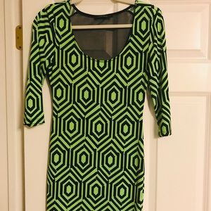 The Vintage Shop - Lime green dress